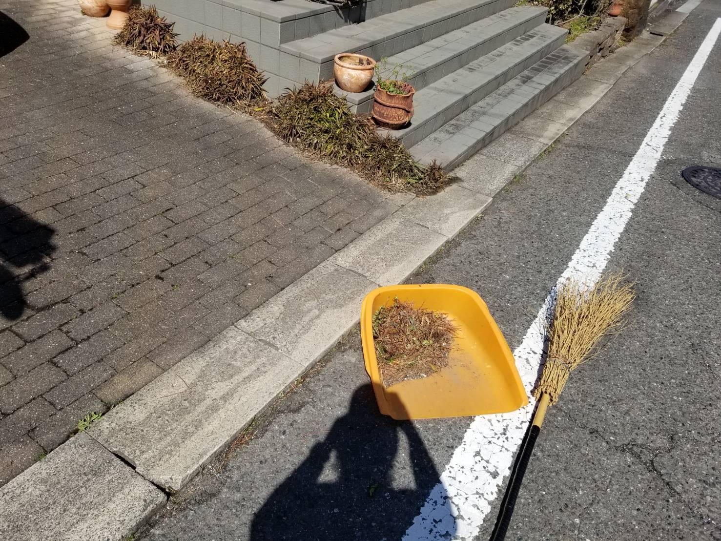 知多市 空き家管理 落葉清掃 (3)