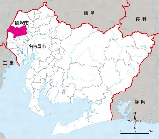 地図 愛知県(稲沢市)
