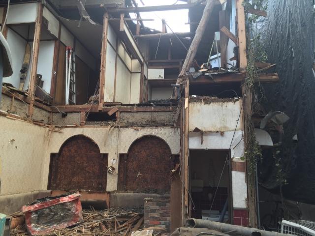倒壊の恐れのある空き家