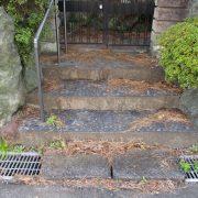 空き家管理 落ち葉 掃き掃除 玄関