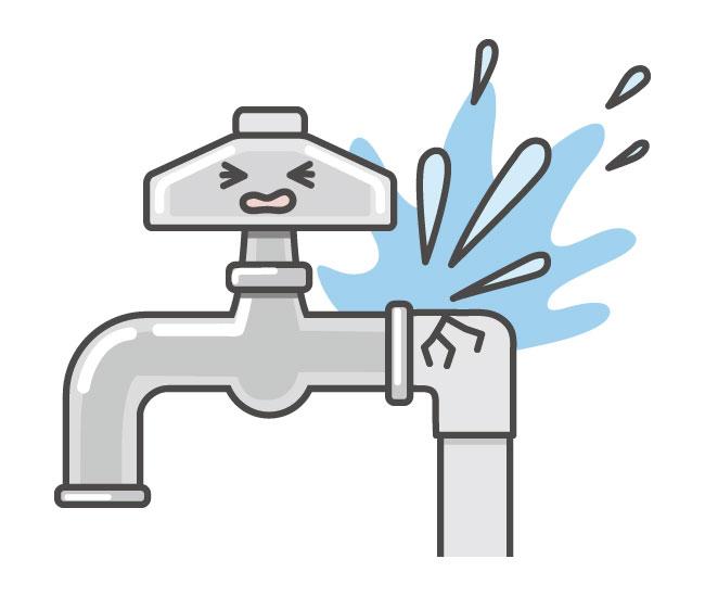 イラスト 水道管 給湯器の凍結 (2)