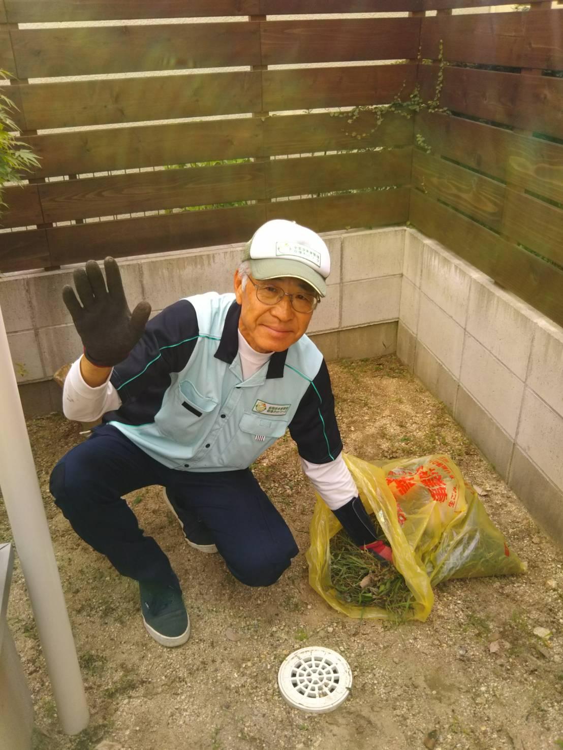 2017.9.14 千種区 草取り 森さん住田さん