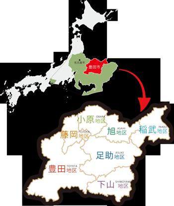 地図 愛知県(豊田市)